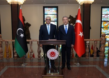 وزير الدفاع التركي يستقبل وزير داخلية الوفاق الليبية في أنقرة