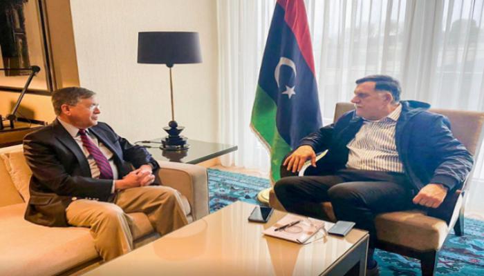 السراج يبحث مع سفير واشنطن رفع الحصار عن حقول النفط