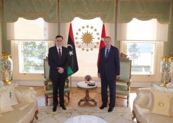أردوغان والسراج يؤكدان أهمية الحل السياسي للأزمة الليبية
