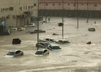 الأمطار تغرق شوارع الطائف.. وسعوديون يطالبون بالتحقيق