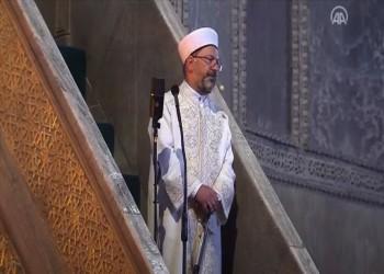 إمام آيا صوفيا: حمل أرباش للسيف رمز للفتح الإسلامي
