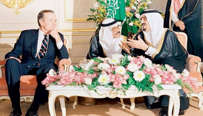 وثائق أمريكية تتضمن مكالمة بين الملك فهد وبوش الأب حول غزو الكويت