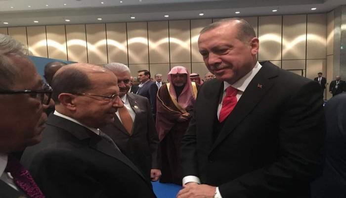 أردوغان لعون: تركيا مستعدة لتقديم كافة المساعدات للبنان