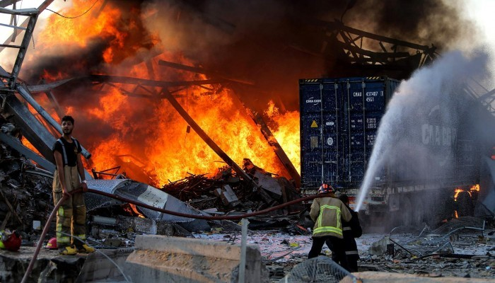 ارتفاع ضحايا تفجير بيروت إلى 113 قتيلا و4000 جريح