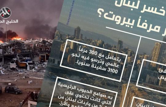 ماذا خسر لبنان بانفجار مرفأ بيروت؟
