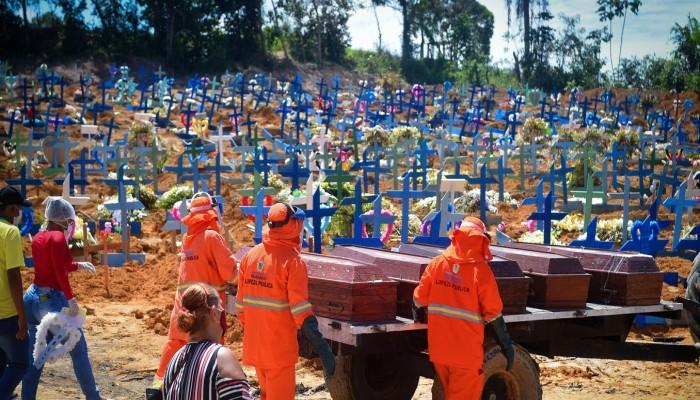 وفيات كورونا بالبرازيل تتجاوز 100 ألف حالة