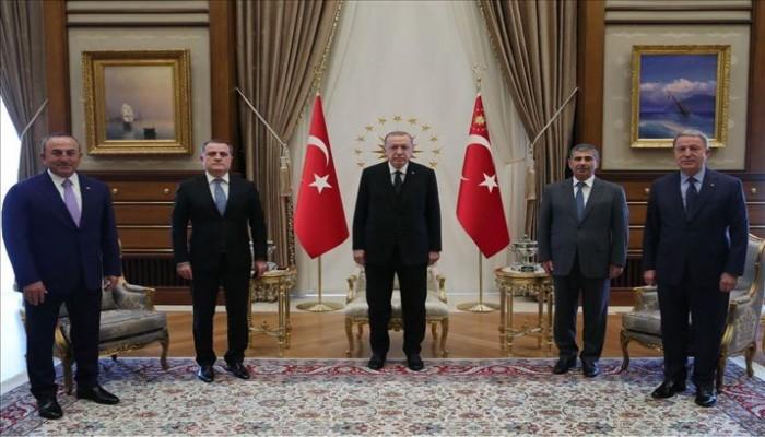 أردوغان يلتقي وزير الخارجية الأذربيجاني في أنقرة
