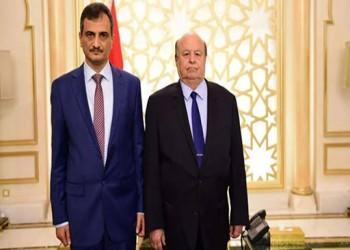 محافظ عدن المنتمي للجنوبي يؤدي اليمين أمام الرئيس هادي
