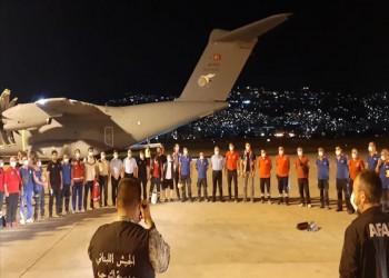 تركيا تواصل نجدة بيروت.. طائرة مساعدات طبية تحط بمطار الحريري