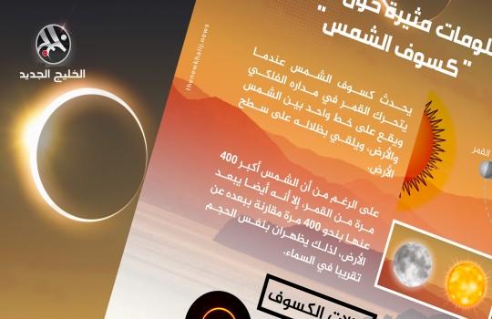 معلومات مثيرة حول ظاهرة كسوف الشمس