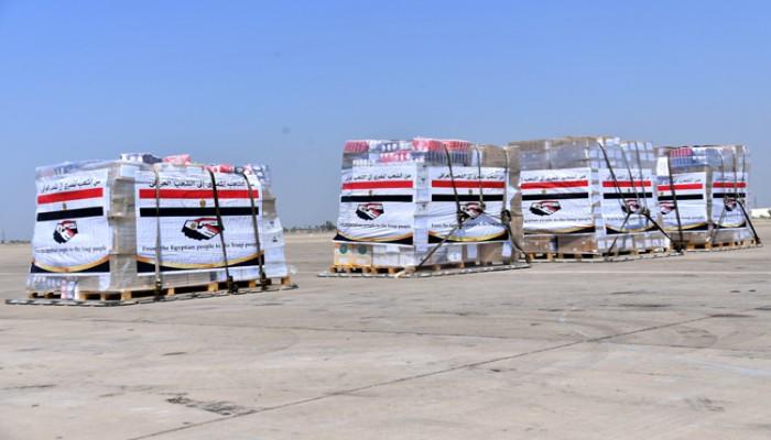 14 طن مساعدات طبية وقائية من مصر إلى العراق