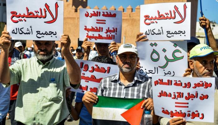 القيادة الفلسطينية الموحدة تدعو لمظاهرات ضد تطبيع الإمارات والبحرين مع إسرائيل