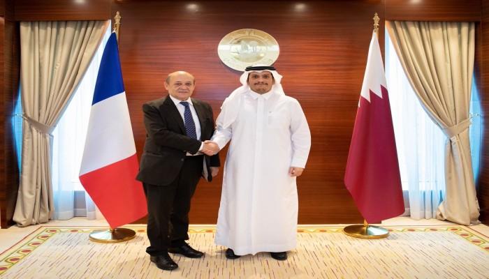 وزير الخارجية الفرنسي يتصل بنظيره القطري بسبب ليبيا ولبنان