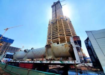ارتفاع برج العاصمة الإدارية المصرية يتجاوز 220 مترا