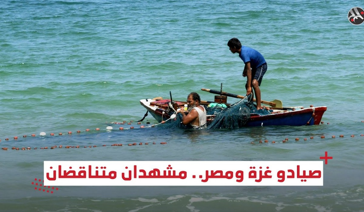 صيادو غزة ومصر.. مشهدان متناقضان