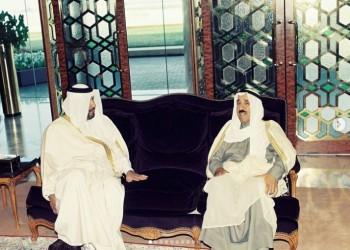 بالصور.. حمد بن جاسم ينشر ذكرياته مع أمير الكويت الراحل