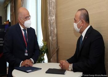 أول لقاء بين وزيري خارجية تركيا واليونان منذ أزمة شرق المتوسط