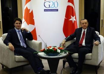 أردوغان لترودو: تعليق الصادرات العسكرية مخالف لروح الوفاق