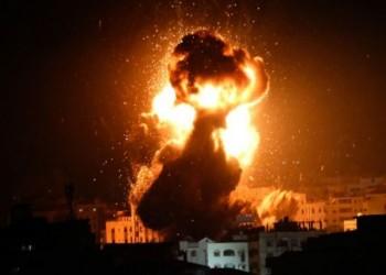 دون إصابات.. قصف إسرائيلي على مواقع المقاومة بغزة