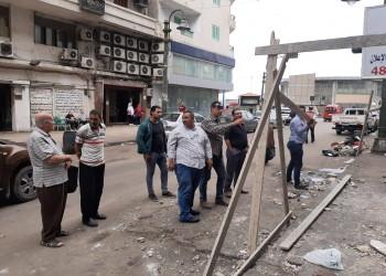 سقوط شرفة إحدى البنايات في مصر بسبب الأمطار (فيديو)