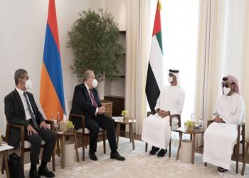 بعد الهزيمة.. رئيس أرمينيا يجرى مباحثات مع بن زايد في أبوظبي