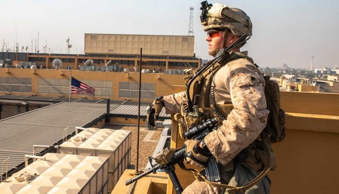 """تبناه """"أصحاب الكهف"""".. هجوم صاروخي على السفارة الأمريكية ببغداد"""