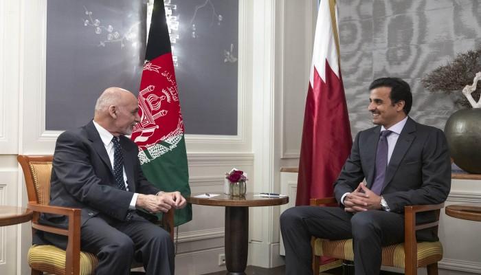 أمير قطر ورئيس أفغانستان يبحثان تطوير العلاقات الثنائية