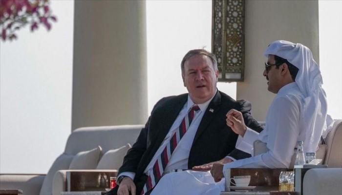 أمير قطر يبحث مع بومبيو المستجدات الدولية والإقليمية