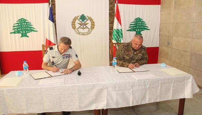 اتفاقية تعاون عسكري بين لبنان وفرنسا