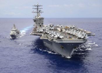 تحريك حاملة طائرات أمريكية وسفن حربية إلى مياه الخليج