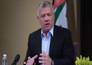 ملك الأردن يدعو لوقف خطوات إسرائيلية أحادية تقوض السلام