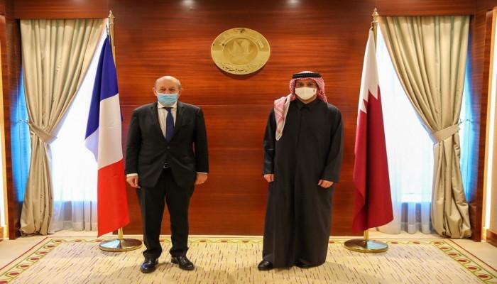 وزيرا خارجية قطر وفرنسا يبحثان في الدوحة تطورات الأزمة الخليجية