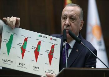 أردوغان: خلافنا مع إسرائيل حول فلسطين.. ونأمل في تحسن العلاقات