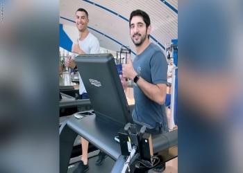فيديو لولي عهد دبي مع كريستيانو رونالدو في تدريب مشترك