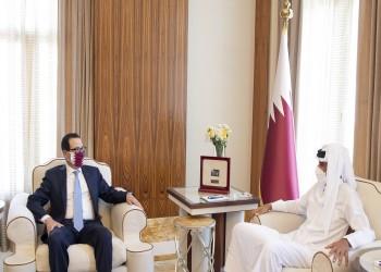 أمير قطر يبحث مع وزير الخزانة الأمريكي التعاون الاستراتيجي