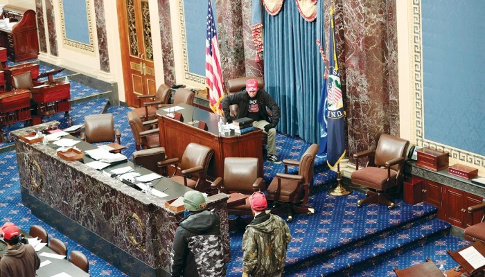 إف بي آي يحقق في 160 قضية متعلقة باقتحام الكونجرس