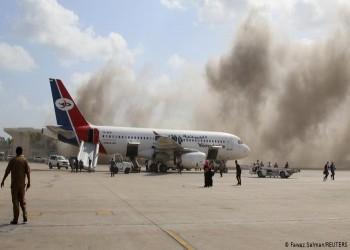 مناطق سيطرة الحوثيين.. الصواريخ التي استهدفت مطار عدن أطلقت من مسافة 100 كم