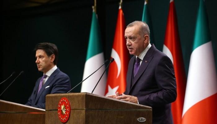 أردوغان يجري مباحثات مع كونتي: نولي أهمية للعلاقات مع إيطاليا