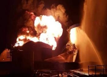 دون ضحايا.. حرائق تشتعل في صهاريج النفط قرب مصفاة حمص