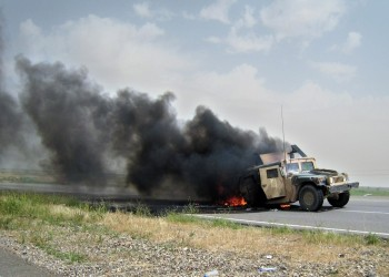 الثالث خلال 24 ساعة.. مهاجمة رتل للتحالف الدولي جنوبي العراق