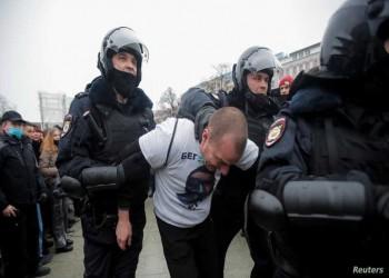 قوات الأمن الروسية تعتدي على متظاهرين طالبوا برحيل بوتين
