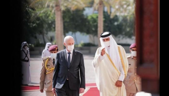 في اتصال هاتفي.. أمير قطر يطمئن على رئيس تونس
