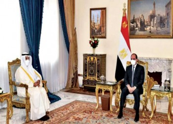 السيسي يبحث مع الحجرف التعاون بين مصر ودول الخليج