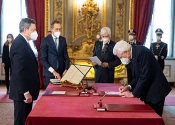 ماريو دراغي يؤدي اليمين الدستورية رئيسا لوزراء إيطاليا