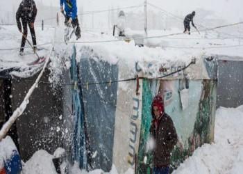 اللاجئون أكثر المتضررين.. موجة ثلوج تحاصر دول الشام