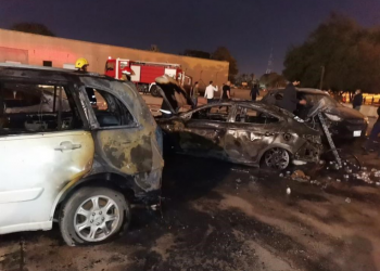 سقوط 3 صواريخ قرب السفارة الأمريكية ببغداد