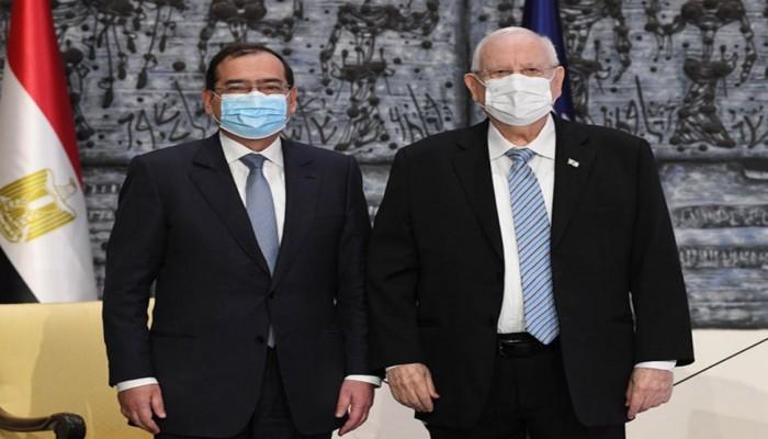 رئيس إسرائيل يبحث مع وزير البترول المصري الأوضاع بغزة