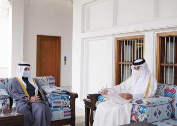 الشيخ تميم يتسلم رسالة خطية من أمير الكويت