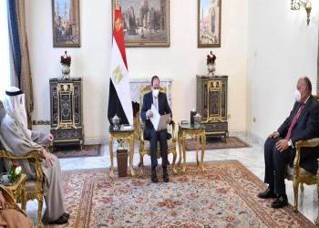 السيسي يستقبل رسالة خطية من أمير الكويت
