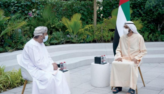 رسالة خطية من سلطان عمان لنائب رئيس الإمارات